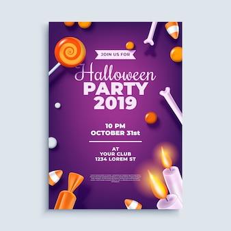 Modello di poster o flyer layout di festa di halloween.
