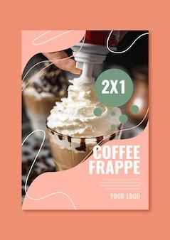 Modello di poster per caffetteria