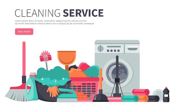 Modello di poster per i servizi di pulizia della casa