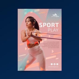 Modello di poster per palestra fitness