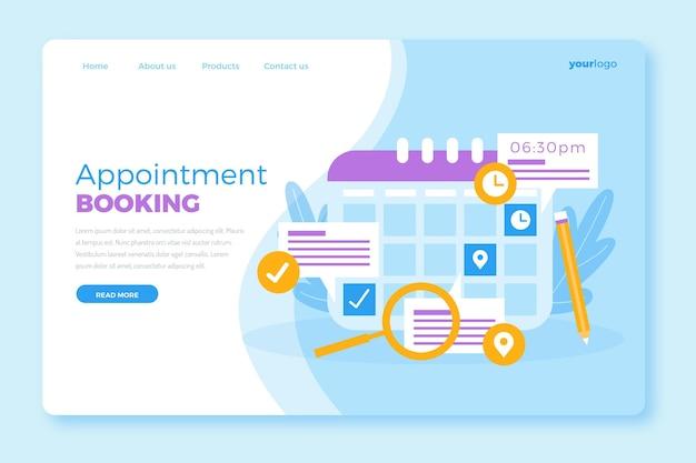 Modello di prenotazione appuntamento per landing page
