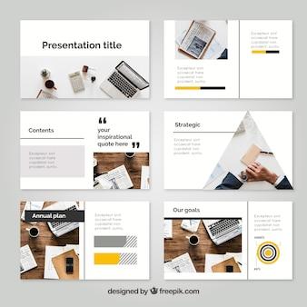Modello di presentazione aziendale con foto