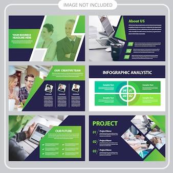 Modello di presentazione aziendale in stile piano