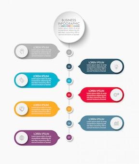 Modello di presentazione aziendale infografica.