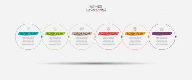 Modello di presentazione aziendale infografica