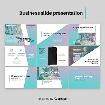 Modello di presentazione della diapositiva aziendale