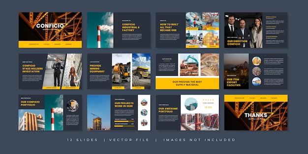 Modello di presentazione di diapositive minime multiuso di affari