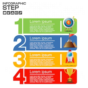 Modello di presentazione di quattro punti di numeri