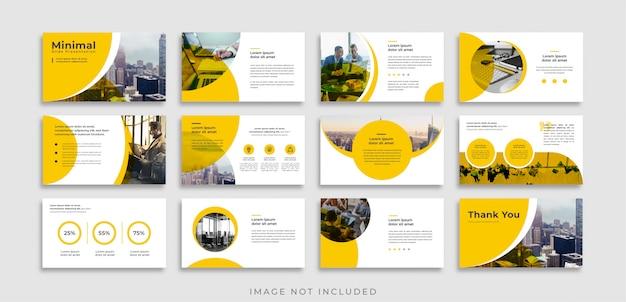 Modello di presentazione diapositive minimal arancione