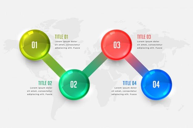 Modello di presentazione infografica di affari