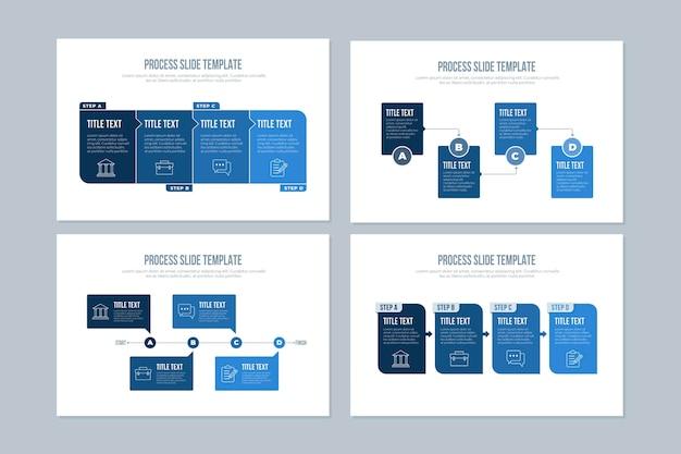 Modello di processo infografica