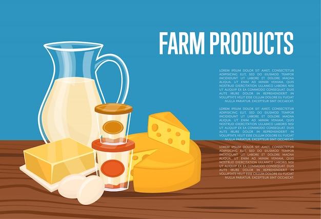 Modello di prodotti agricoli con composizione di latte