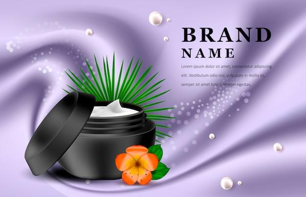 Modello di prodotti cosmetici