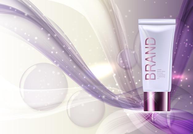 Modello di prodotto di cosmetici design per annunci