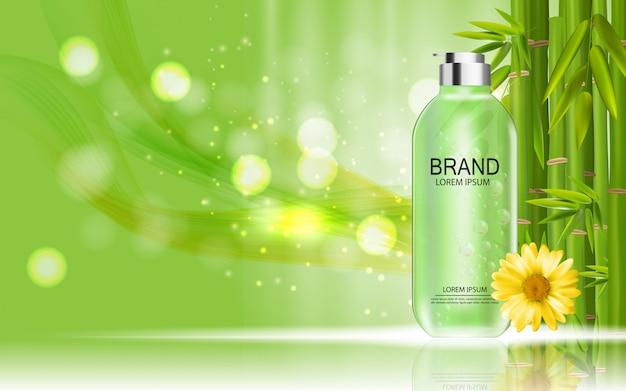 Modello di prodotto di cosmetici