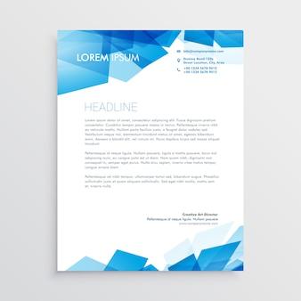 Modello di progettazione astratta carta intestata blu