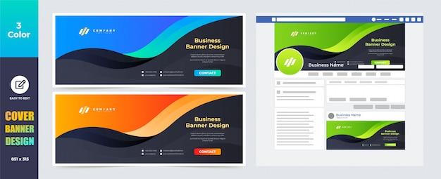 Modello di progettazione banner copertura copertina social media