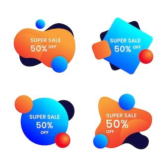 Modello di progettazione banner liquido per annunci di social media impostato