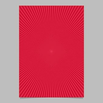 Modello di progettazione brochure astratto sunburst