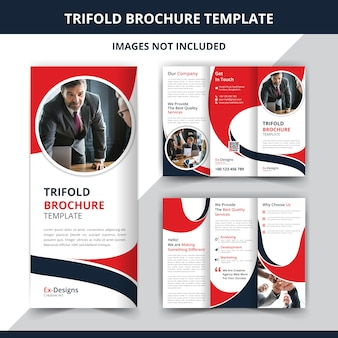 Modello di progettazione brochure aziendale a tre ante