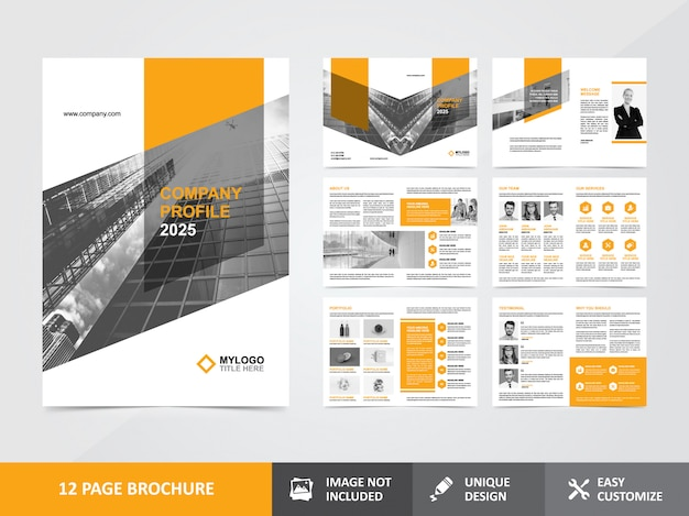 Modello di progettazione brochure aziendale profilo aziendale