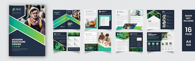 Modello di progettazione brochure creativa
