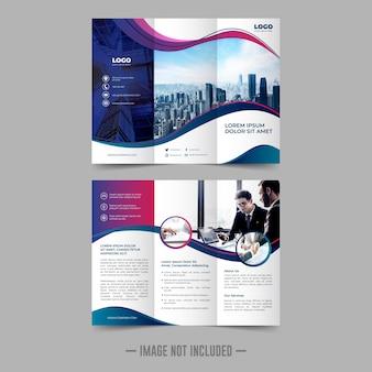 Modello di progettazione brochure flyer trifold