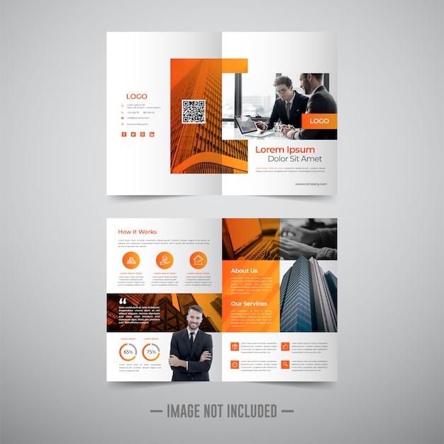 Modello di progettazione brochure flyer