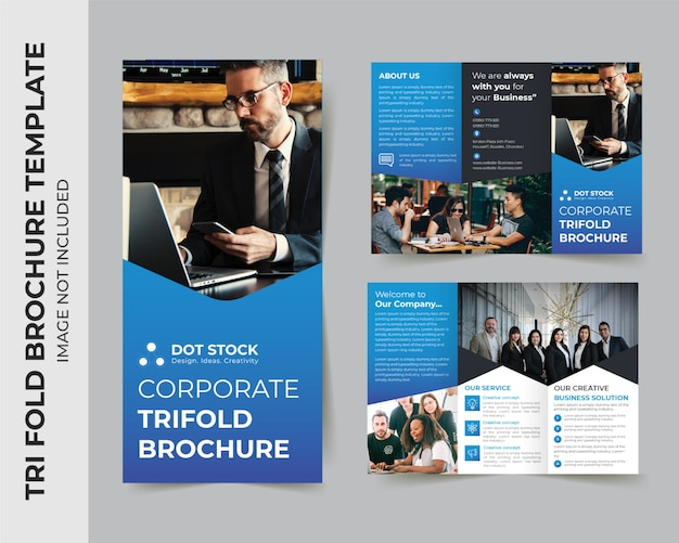 Modello di progettazione brochure medica a tre ante