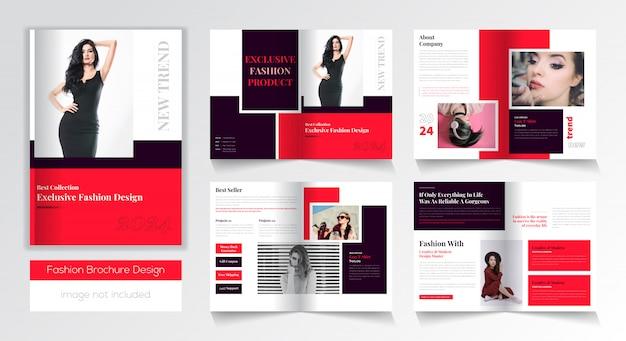 Modello di progettazione brochure moda