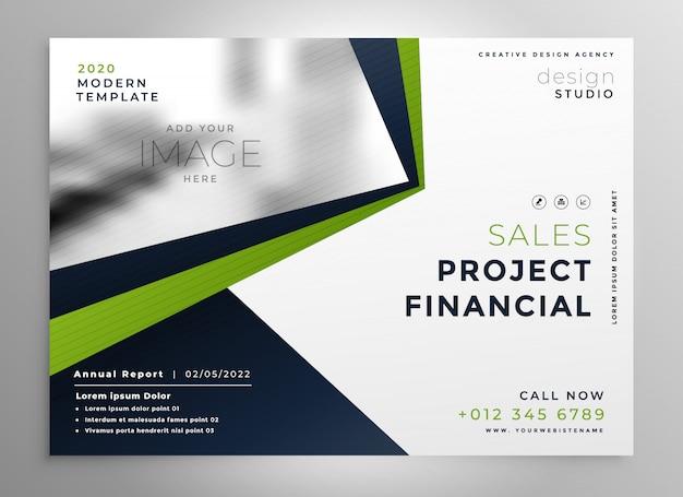 Modello di progettazione brochure moderno ed elegante