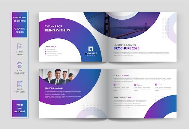 Modello di progettazione brochure paesaggistica, brochure aziendale o aziendale
