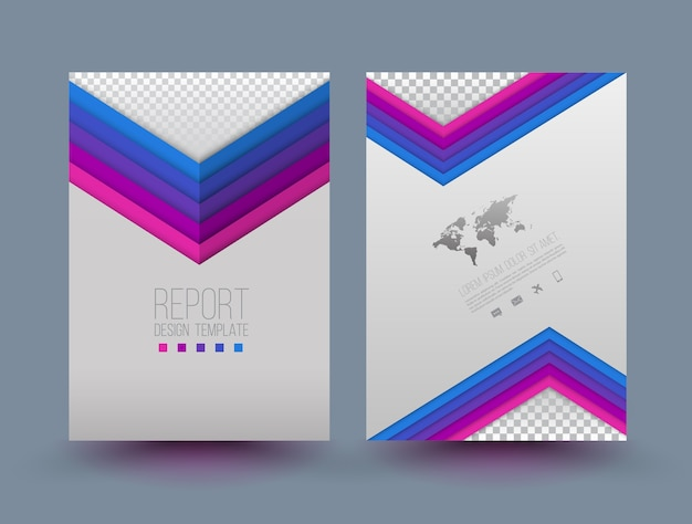 Modello di progettazione brochure vettoriale