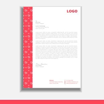 Modello di progettazione carta intestata di san valentino