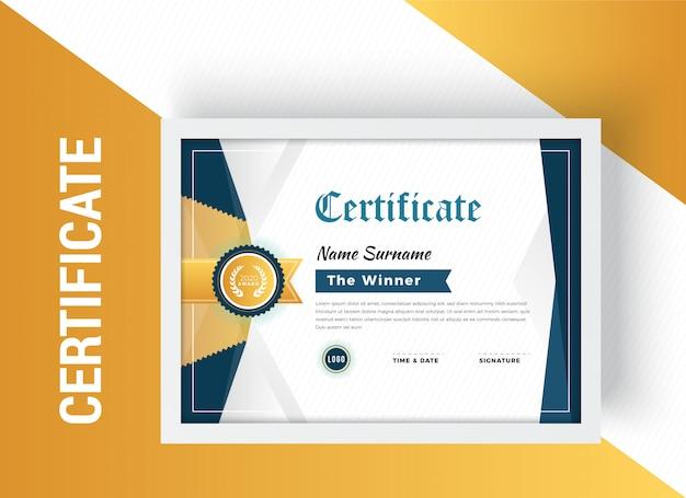 Modello di progettazione certificato elegante