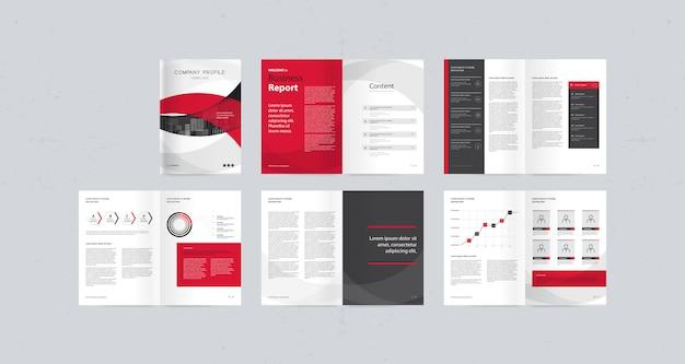Modello di progettazione del layout con copertina di pagina per profilo aziendale, relazione annuale, brochure, riviste e libri