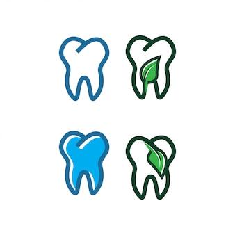 Modello di progettazione del logo del dente