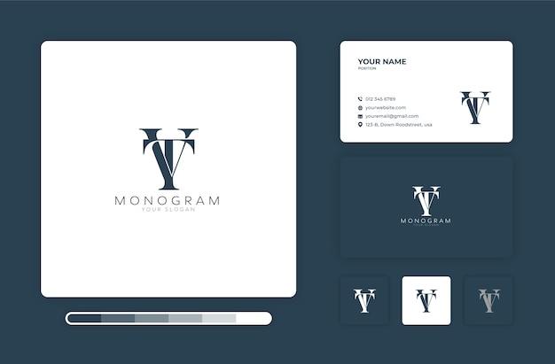 Modello di progettazione del logo del monogramma