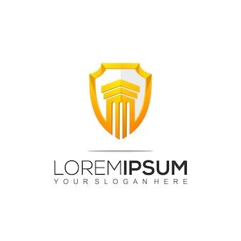 Modello di progettazione del logo di legge e avvocato