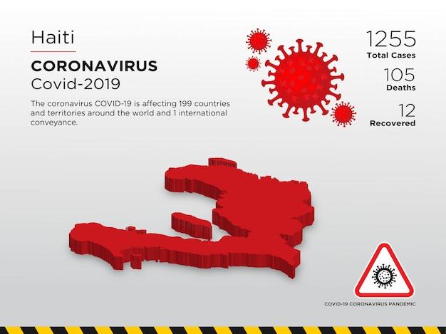 Modello di progettazione del paese interessato del coronavirus