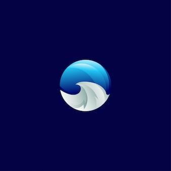 Modello di progettazione dell'icona alla moda moderna sfumatura dell'onda