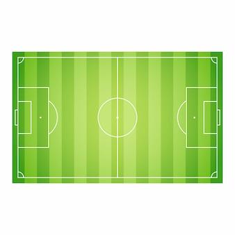 Modello di progettazione dell'illustrazione di vettore del campo di calcio di calcio