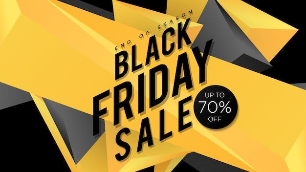 Modello di progettazione dell'insegna di vendita di black friday