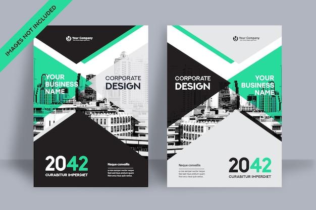 Modello di progettazione della copertina del libro aziendale in a4