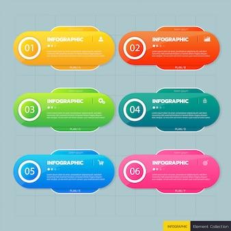 Modello di progettazione di affari infografica