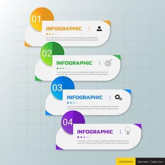 Modello di progettazione di affari infografica.