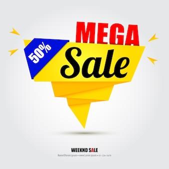Modello di progettazione di banner di vendita con idee creative.