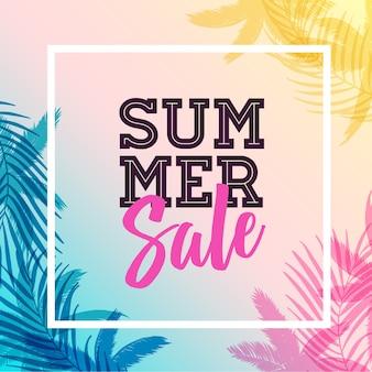 Modello di progettazione di banner di vendita di estate