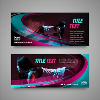 Modello di progettazione di banner sportivi