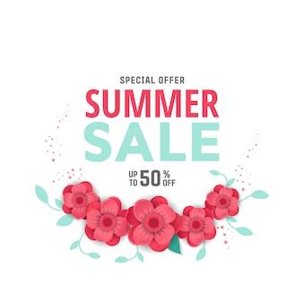 Modello di progettazione di banner vendita estivi.